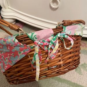 NWT! RARE! Lilly Pulitzer Easter Basket Pink